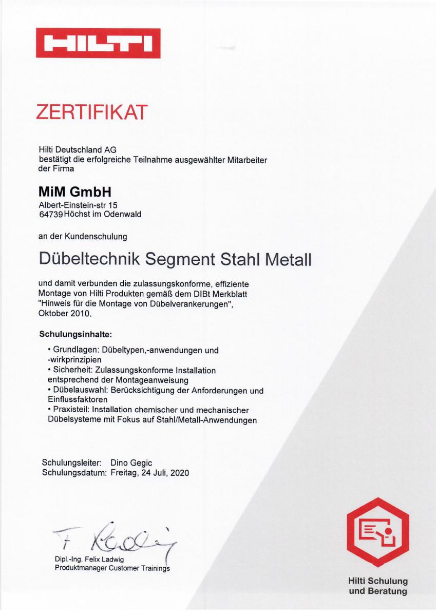 Zertifikat-Hilti-Duebelschulung-2020-MiM-GmbH