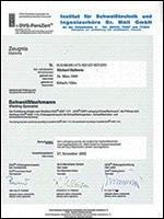 MIM GmbH - Zertifikate